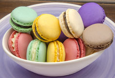 Traditional Parisian macarons Stock Image