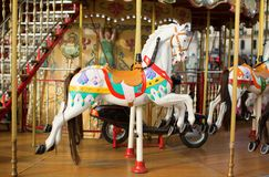 Traditional Parisian merry-go-round Stock Images