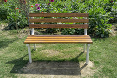 Traditional park bench Stock Images