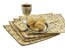 Traditional Passover Meal isolated on white Stock Image