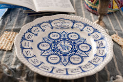 Traditional Passover Plate Stock Photography