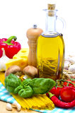 Traditional pasta ingredients Stock Image