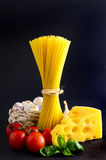 Traditional pasta ingredients Stock Photography
