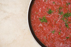 Traditional pasta sauce Stock Images