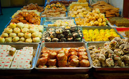 Traditional pastry stall Royalty Free Stock Photography