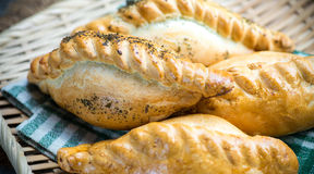 Traditional pasty kibin Stock Photos
