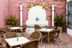 Traditional Patio in Cordoba Royalty Free Stock Photos