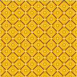 Traditional pattern colorful. Brown and yellow vector illustration
