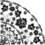 Traditional pattern corner with flower Royalty Free Stock Photography
