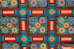 Traditional pattern in South Korea. Close-up. stock images