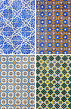 Traditional pattern tiles in Lisbon Stock Photo
