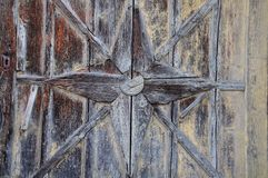 Detail of an old wooden door stock photography