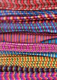 Traditional Patterned Fabric in Ecuador Royalty Free Stock Photography