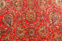 Traditional patterned pillows, fabrics, carpets royalty free stock photo