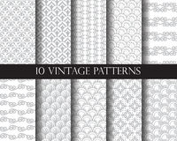 10 traditional patterns. 10 different classic traditional vector patterns. Endless texture can be used for wallpaper, pattern fills, web page background,surface Royalty Free Stock Images