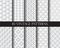 10 traditional patterns. 10 different classic traditional vector patterns. Endless texture can be used for wallpaper, pattern fills, web page background,surface Royalty Free Stock Photos