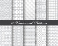 10 traditional patterns Royalty Free Stock Photography