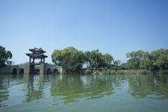 Traditional Pavilion  in Summer Palace,Beijing Stock Image
