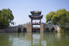 Traditional Pavilion  in Summer Palace,Beijing Royalty Free Stock Photography