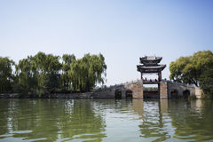 Traditional Pavilion  in Summer Palace,Beijing Royalty Free Stock Photo
