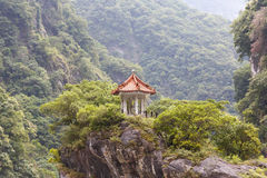 Traditional Pavillion atop Cliff Royalty Free Stock Photography