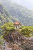 Traditional Pavillion atop Cliff Stock Photos
