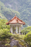 Traditional Pavillion atop Cliff Stock Photography