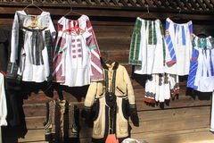 Traditional peasant costumes Stock Image