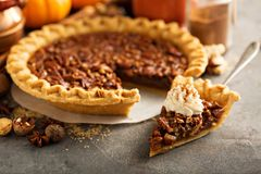 Traditional pecan pie Royalty Free Stock Image