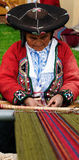Traditional people from Peru Royalty Free Stock Photography