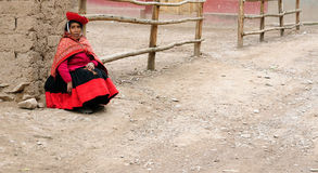 Traditional people from Peru Stock Photography