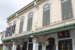 Traditional Peranakan Building. Historic Traditional Peranakan Houses Along the Street of Malacca Malaysia Royalty Free Stock Images