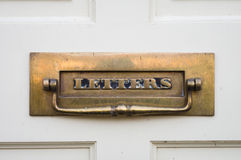 Traditional - Period -  Antique - Front Door Letterbox Royalty Free Stock Photo