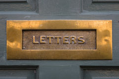 Traditional - Period -  Antique - Front Door Letterbox Stock Photo
