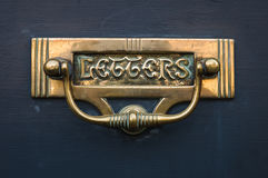 Traditional - Period -  Antique - Front Door  Letterbox Stock Image