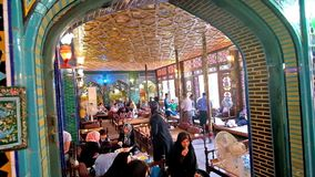 The traditional Persian restaurant in Isfahan stock video