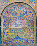 Traditional Persian tiled wall with colorful patterns of the royal Golestan Palace, Iran. UNESCO World Heritage site Stock Photo