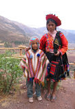 Traditional Peruvian Children. Peruvian Children in traditional garments in the Sacred Valley, near Machu Picchu (July 2006 Royalty Free Stock Photo