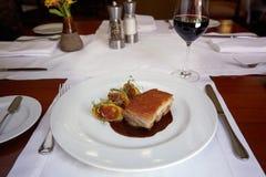Traditional Peruvian Meal Called Chicharron de Panceta de Cerdo Royalty Free Stock Images