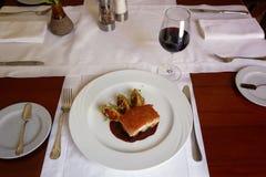 Traditional Peruvian Meal Called Chicharron de Panceta de Cerdo Stock Photography