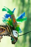Peruvian tribal crown. Traditional peruvian tribal crown made with colorful feathers royalty free stock photo