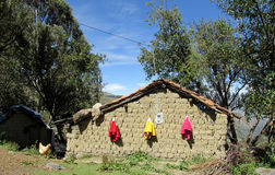 Traditional peruvian village house Stock Photos