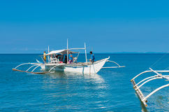 Traditional philippine boats Stock Images