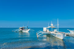 Traditional philippine boats Royalty Free Stock Photo