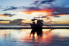 Traditional Philippines boat Stock Photography