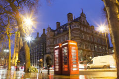 Traditional phone booth in London city Royalty Free Stock Images