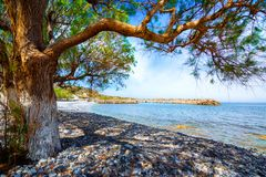 Traditional pictorial coastal fishing village of Milatos, Crete. Traditional pictorial coastal fishing village of Milatos, Crete, Greece Royalty Free Stock Images