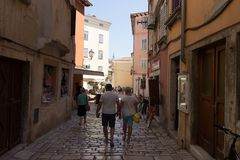 Traditional pictorial streets of old Croatian villages royalty free stock photography