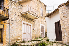 Traditional pictorial streets of old italian villages Royalty Free Stock Images