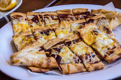 Traditional pide Turkish pizza, Royalty Free Stock Photos